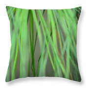 Abstract Green Pine Throw Pillow