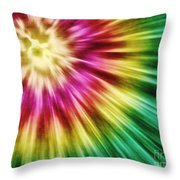Abstract Green Tie Dye Throw Pillow