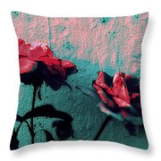 Abstract Hdr Roses Throw Pillow