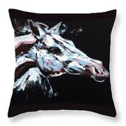 Abstract Horse Throw Pillow