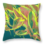 Abstract - Hostatakeover Throw Pillow