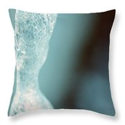 Abstract Ice 2014 Throw Pillow