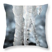 Abstract Icicles I Throw Pillow