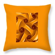 Abstract In Amber Throw Pillow