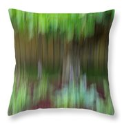 Abstract In Green Throw Pillow