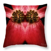 Nature In Abstract Dogwood Blossom 2 Throw Pillow
