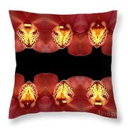 Nature In Abstract Orchid Square Throw Pillow