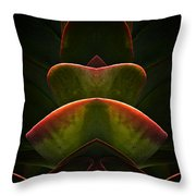 Nature In Abstract Succulent Plant 1 Throw Pillow