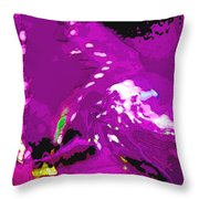 Abstract In Purple Throw Pillow