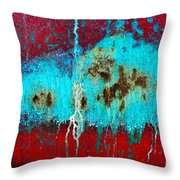 Abstract In Red 6 Throw Pillow