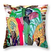 Abstract Inca Warriors Past Present And Future Throw Pillow