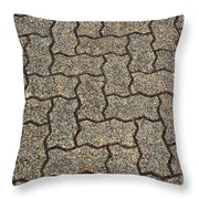Abstract Interlocking Pavement Throw Pillow
