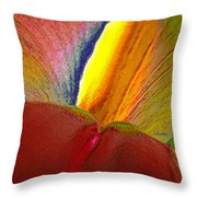 Abstract Iris 2 Throw Pillow