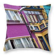 Abstract Istanbul Throw Pillow by Antony McAulay