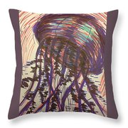 Abstract Jellyfish In Ink Throw Pillow