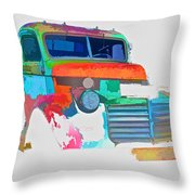 Abstract Jimmy Throw Pillow
