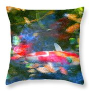 Abstract Koi 1 Throw Pillow