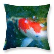 Abstract Koi 3 Throw Pillow
