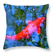 Abstract Koi 4 Throw Pillow
