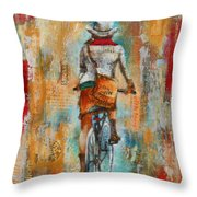 Abstract Lady 4  Throw Pillow