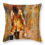 Abstract Lady  5 Throw Pillow