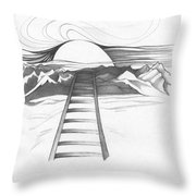 Abstract Landscape Art Black And White Baby Please Don't Go By Romi Throw Pillow