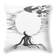 Abstract Landscape Art Black And White Goin South By Romi Throw Pillow by Megan Duncanson