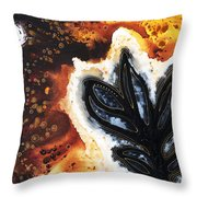 Abstract Landscape Art - New Growth - By Sharon Cummings Throw Pillow