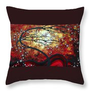 Abstract Landscape Art Original Painting Where Dreams Are Born By Madart Throw Pillow