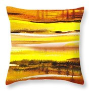 Abstract Landscape Found Reflections Throw Pillow