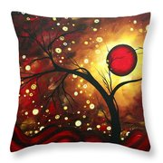 Abstract Landscape Glowing Orb By Madart Throw Pillow