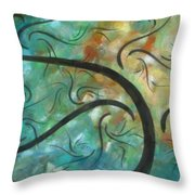 Abstract Landscape Painting Digital Texture Art By Megan Duncanson Throw Pillow