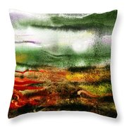 Abstract Landscape Sunrise Sunset Throw Pillow