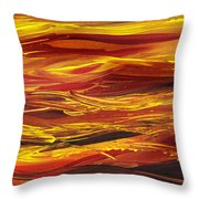 Abstract Landscape Yellow Hills Throw Pillow