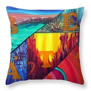 Abstract Landscapes Throw Pillow