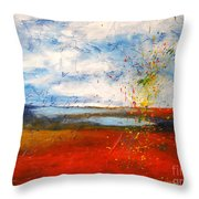 Abstract Lanscape Throw Pillow