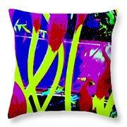 Abstract Lavender  Throw Pillow