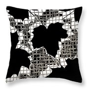 Abstract Leaf Pattern - Black White Sepia Throw Pillow by Natalie Kinnear
