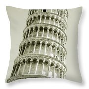 Abstract Leaning Tower Of Pisa Throw Pillow