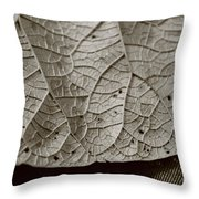 Abstract Leaf Throw Pillow