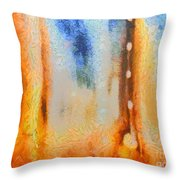 Abstract Lift Off  Throw Pillow by Pixel Chimp