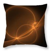 Abstract Light Flight Throw Pillow