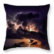 Abstract Lightning 14 Throw Pillow