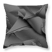 Abstract - Lines - Path To Destruction Throw Pillow