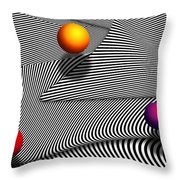 Abstract - Lines - That's A Moire Throw Pillow