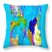 Abstract Melting Planet Throw Pillow