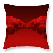 Abstract Merging Red Inks Throw Pillow