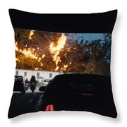 Abstract Mixmedia Patchwork Pleasure Drive End Of The Tunnel Bridge Paris France Throw Pillow