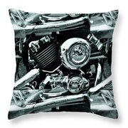 Abstract Motor Bike - Doc Braham - All Rights Reserved Throw Pillow