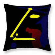 Abstract Music Throw Pillow